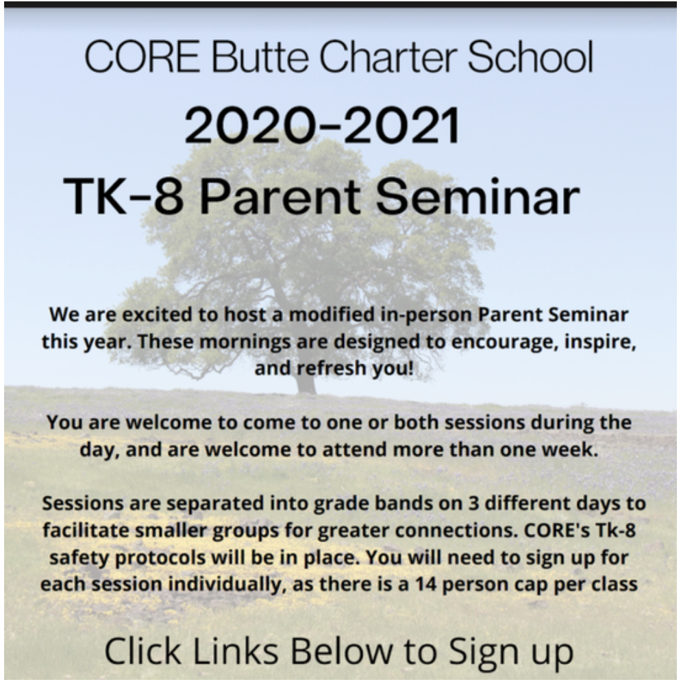 TK-8 Parent Seminar