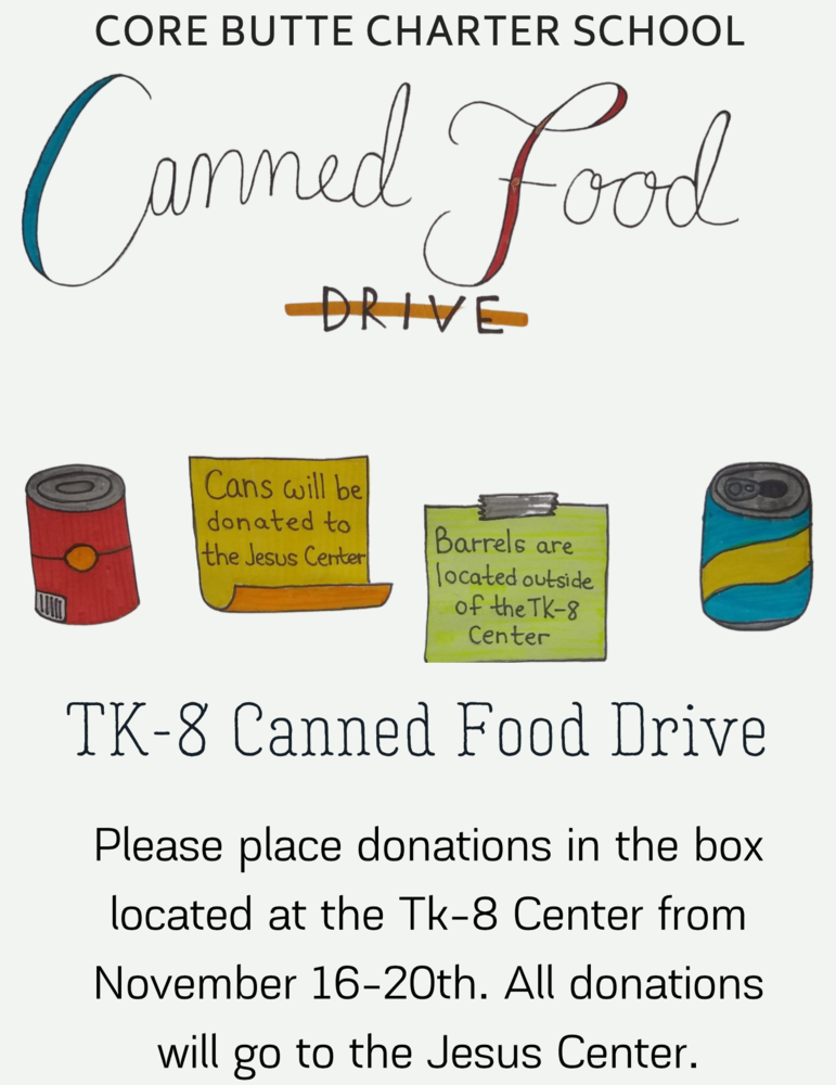 TK-8 Canned Food Drive